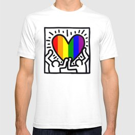 Pride heart, tribute to Keith Haring. Great LGBT gift. T-shirt