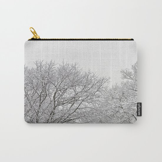Snow covered tree tops Carry-All Pouch