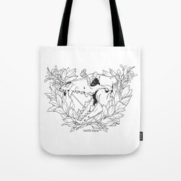 Death & Victory (Lineart) Tote Bag