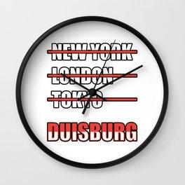 Duisburg Other cities Wall Clock