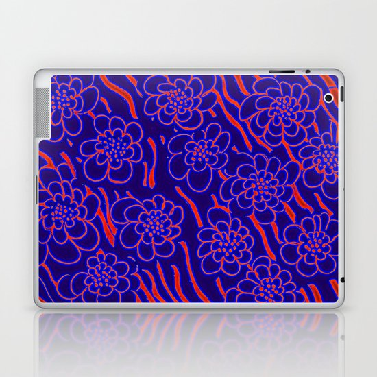 Flowers in blue Laptop & iPad Skin