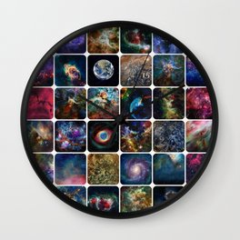 The Amazing Universe - Collection of Satellite Imagery Wall Clock