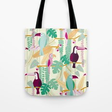 Rainforest birds Tote Bag