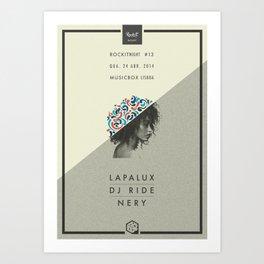 Rockit Night #13 - Lapalux Art Print