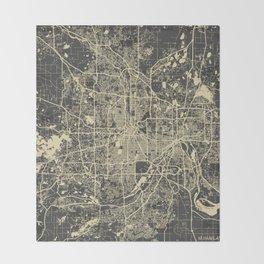Minneapolis Map Throw Blanket