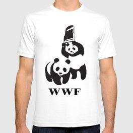 panda wrestling T-shirt