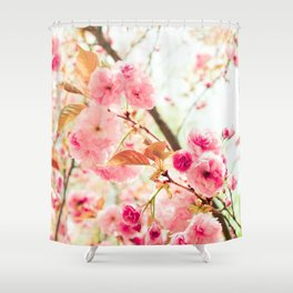 Pink Blooms (2) Shower Curtain