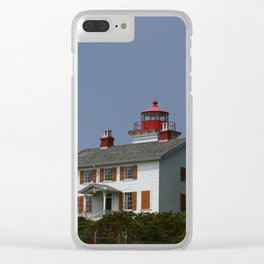Yaquina Bay Ligthhouse Clear iPhone Case