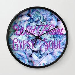 Wild Heart Gypsy Soul Wall Clock