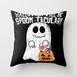 Halloween Ghost Spook Tacular Throw Pillow