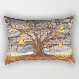Lantern Tree Rectangular Pillow