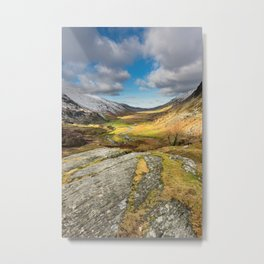 Nant Ffrancon Valley In Snowdonia Metal Print