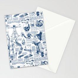 Da Vinci's Anatomy Sketchbook // Dark Blue Stationery Cards