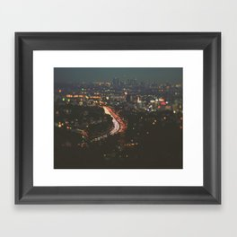 L.A. Skyline. Stardust Framed Art Print