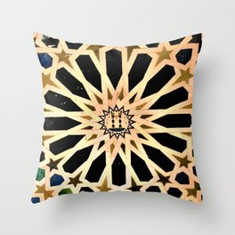 Azulejo de La Alhambra Throw Pillow