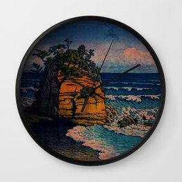 Bathing in Sunset Wall Clock