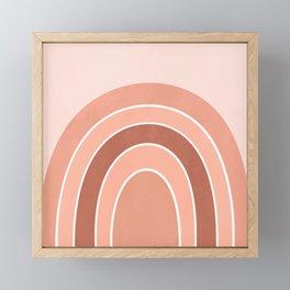 Rainbow arc - neutrals Framed Mini Art Print