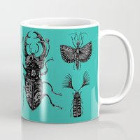 insects Mugs featuring Insects by Ejaculesc