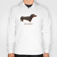 dachshund Hoodies featuring Dachshund by 52 Dogs