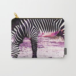 Colorful Zebra 2 - Buy Black And White Stripes Art Carry-All Pouch