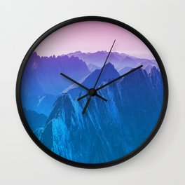 Mountains 2017 Wall Clock