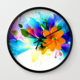 Chilly Flower Wall Clock