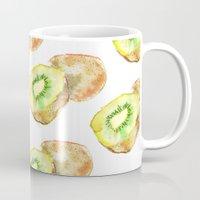 kiwi Mugs featuring Kiwi by Imanol Buisan