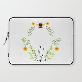 Bees in the Garden - Watercolor Graphic Laptop Sleeve