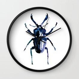 Beetle in Blue Wall Clock