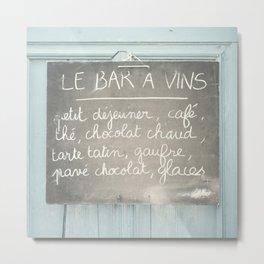 Le Bar a Vins - France Metal Print
