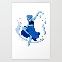 Lapis Dances Art Print