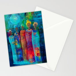 Walking In A Moon Beam Stationery Cards