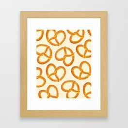 Pretzel Party Framed Art Print