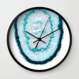 Aquamarine Agate #1 #gem #decor #art #society6 Wall Clock