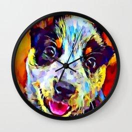 Blue Heeler Puppy Wall Clock
