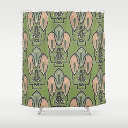Art Deco Frog Shower Curtain