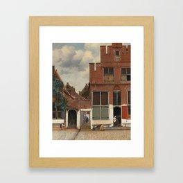 Johannes Vermeer - The little street Framed Art Print