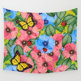 Floral scene Wall Tapestry