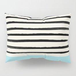 Sky Blue x Stripes Pillow Sham