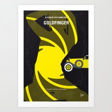 No277-007 My Goldfinger minimal movie poster Art Print