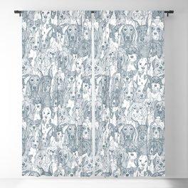 dogs aplenty bluestone Blackout Curtain