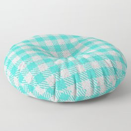 Turquoise Buffalo Plaid Floor Pillow