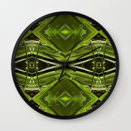 Dew Drop Jewels on Summer Green Grass Wall Clock
