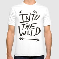 Into the Wild Mens Fitted Tee White LARGE