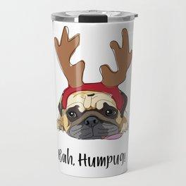 Bah Humpug Reindeer Dog Travel Mug