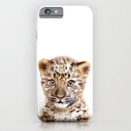 Baby Leopard, Baby Animals Art Print By Synplus iPhone Case