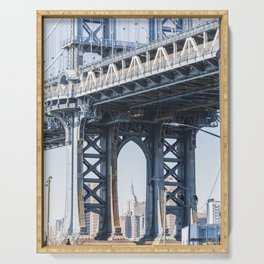 Manhattan Bridge Empire Blue Serving Tray