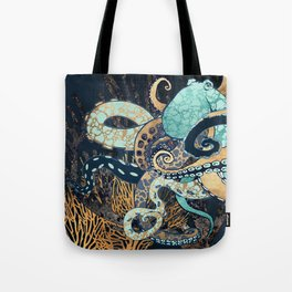 Metallic Octopus II Tote Bag