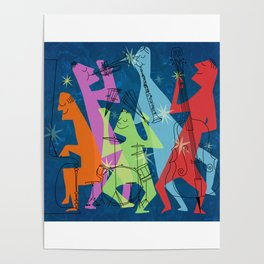 Mid-Century Modern Jazz Band Poster