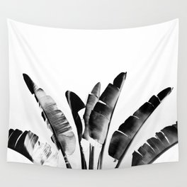 Traveler palm - bw Wall Tapestry